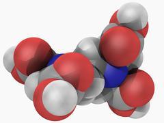 Edetic acid molecule Stock Illustration