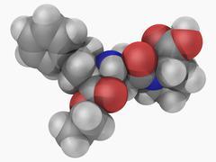 Enalapril drug molecule Stock Illustration