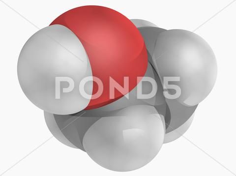 Stock Illustration of ethanol molecule