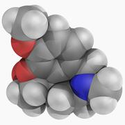 Galantamine drug molecule Stock Illustration