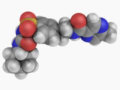 Glipizide drug molecule Stock Illustration