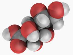 gluconic acid molecule - stock illustration