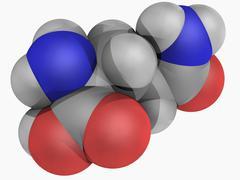 glutamine molecule - stock illustration