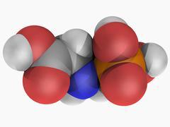 Glyphosate herbicide molecule Stock Illustration