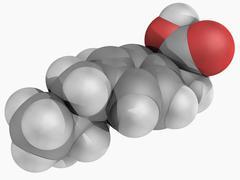 Ibuprofen drug molecule Stock Illustration