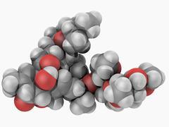 ivermectin drug molecule - stock illustration