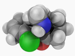 Ketamine drug molecule Stock Illustration