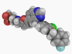 Lapatinib drug molecule Stock Illustration