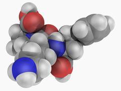 Lisinopril drug molecule Stock Illustration