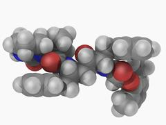 lopinavir drug molecule - stock illustration