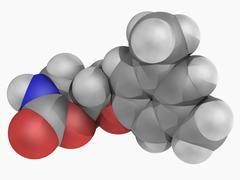 metaxalone drug molecule - stock illustration