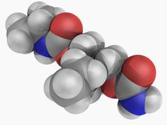 Carisoprodol drug molecule Stock Illustration