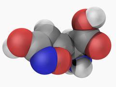 ibotenic acid drug molecule - stock illustration