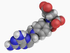 methotrexate drug molecule - stock illustration