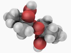 methyl ethyl ketone peroxide molecule - stock illustration