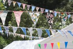 Summer Bunting - stock photo