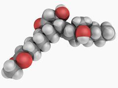 misoprostol drug molecule - stock illustration