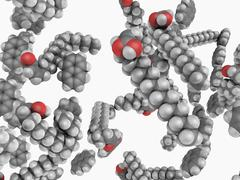 napalm b molecule - stock illustration