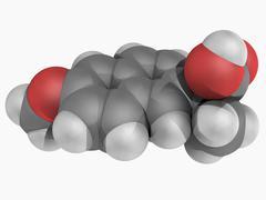 Naproxen drug molecule Stock Illustration