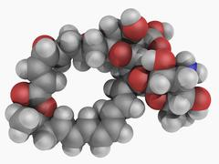 natamycin molecule - stock illustration
