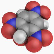 Picric acid molecule Stock Illustration