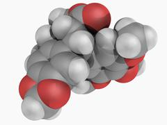 Podofillotoxin molecule Stock Illustration