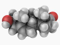 Prasterone hormone molecule Stock Illustration