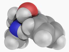 Pseudoephedrine drug molecule Stock Illustration