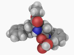 Quinapril drug molecule Stock Illustration