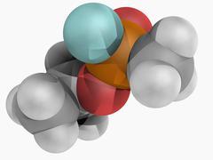 Sarin molecule Stock Illustration