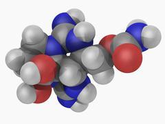 saxitoxin neurotoxin molecule - stock illustration