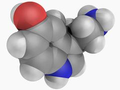 Serotonin molecule Stock Illustration