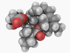Simvastatin drug molecule Stock Illustration