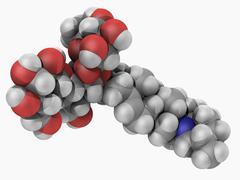 solanine poison molecule - stock illustration