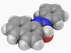 sudan i molecule - stock illustration