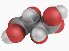 tartaric acid molecule - stock illustration