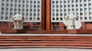 Monument In Front Administration Stock Footage