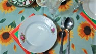Holiday Table At Easter Panorama Stock Footage