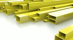 Yellow metal bars Stock Footage