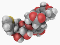teniposide drug molecule - stock illustration
