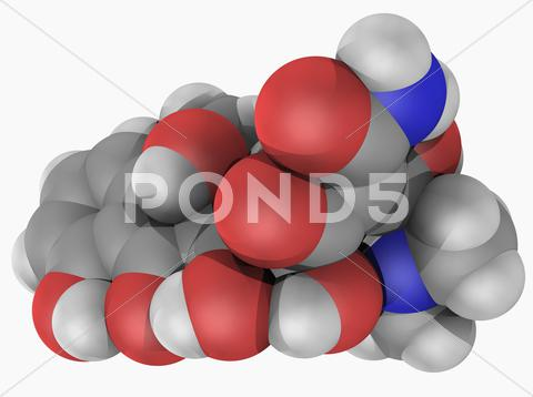 Stock Illustration of tetracycline drug molecule