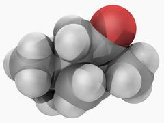 thujone molecule - stock illustration