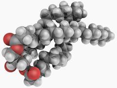 Triglyceride molecule Stock Illustration
