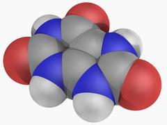 uric acid molecule - stock illustration