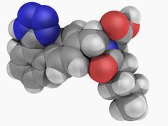 Valsartan drug molecule Stock Illustration