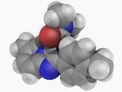 Zolpidem drug molecule Stock Illustration
