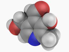 Vitamin b6 pyridoxal molecule Stock Illustration