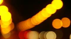 Lights blur on road Stock Footage