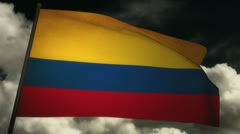 Flag Colombia 02 Stock Footage