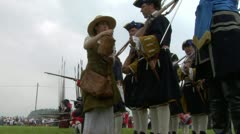 savoian french infantry battle 01 - stock footage